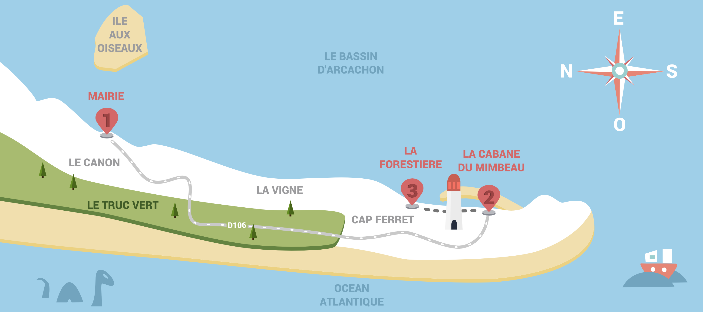 Carte du Cap Ferret